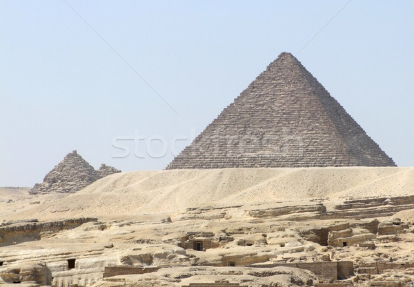 Pyramid of Menkaure Stock photo © prill