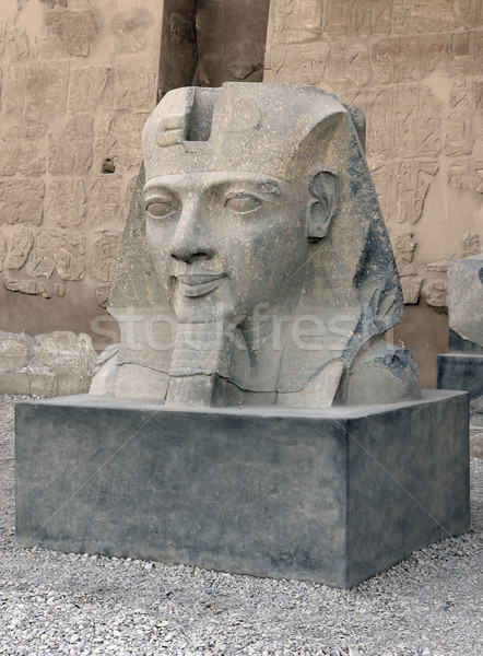 sculpture at Luxor Temple in Egypt Stock photo © prill