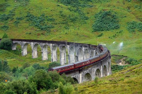 Glenfinnan Viaduct in green anbiance Stock photo © prill