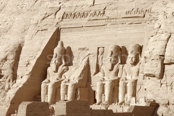 Abu Simbel temples in Egypt Stock photo © prill