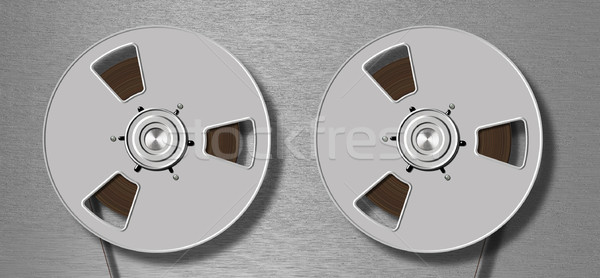 metallic tape recorder Stock photo © prill