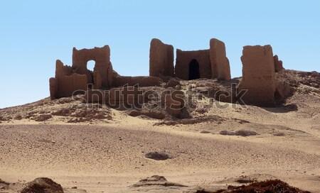 ruins at Qasr Dusch Stock photo © prill