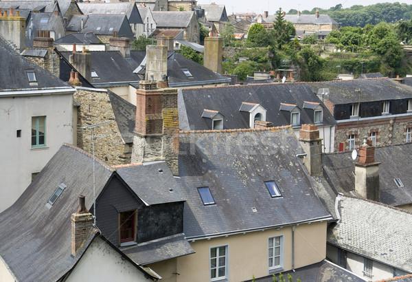 Cidade parede verão arquitetura telhado Foto stock © prill