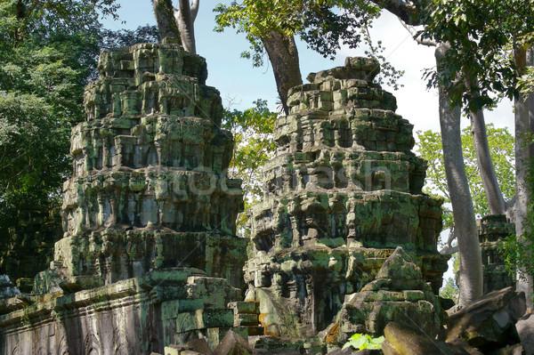 Angkor Wat detay tapınak karmaşık Kamboçya Bina Stok fotoğraf © prill