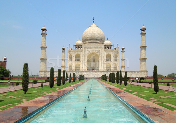 Taj Mahal in Agra Stock photo © prill