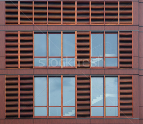 Moderno casa fachada pormenor windows edifício Foto stock © prill