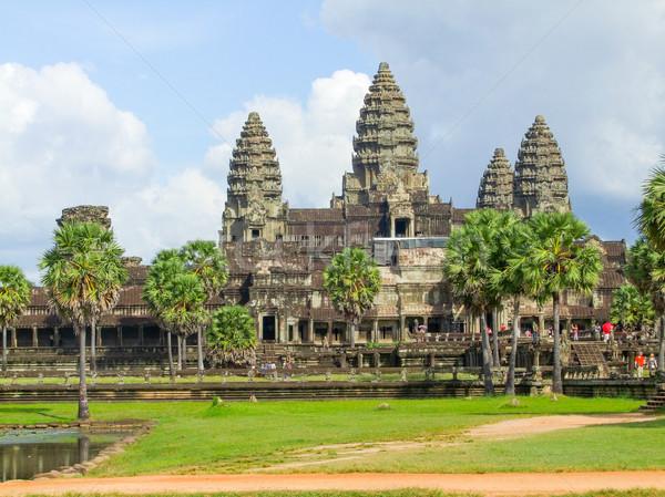 Angkor Wat Camboja templo complexo edifício pedra Foto stock © prill