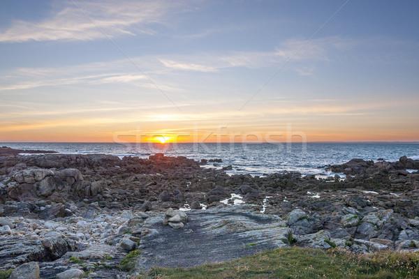 Sera idilliaco spiaggia acqua sole Foto d'archivio © prill