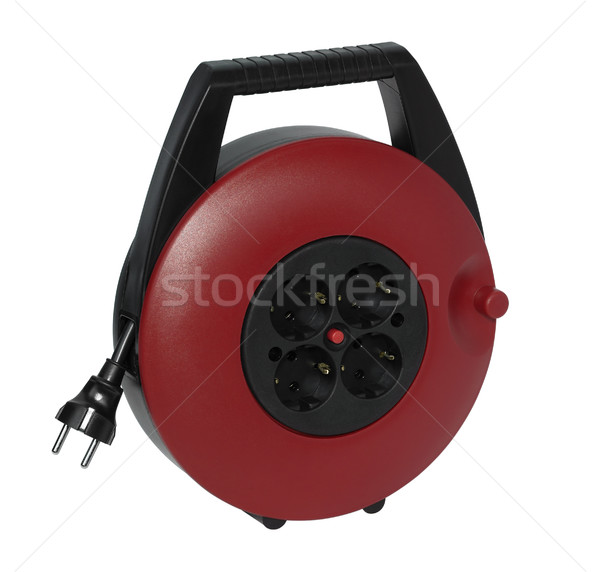 red plastic cable reel Stock photo © prill