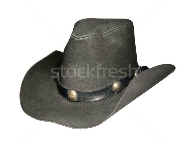 leather cowboy hat Stock photo © prill