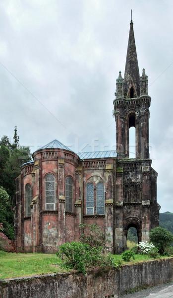 ストックフォト: 教会 · 台無しにする · 島 · 古い · 建物 · 屋外