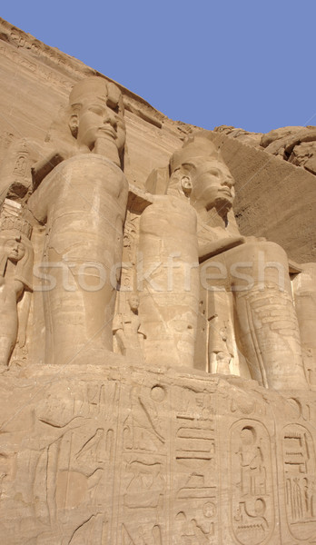 stone sculptures at Abu Simbel temples in Egypt Stock photo © prill
