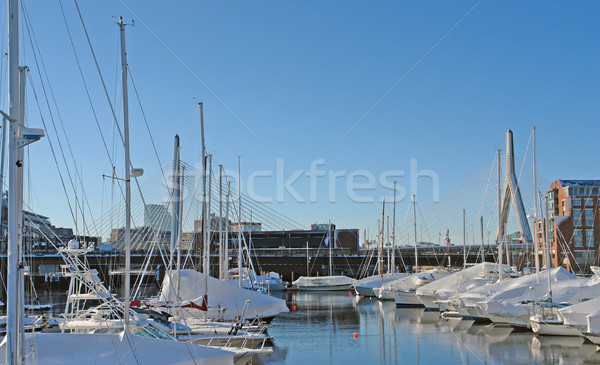 Stock photo: Boston harbour in sunny ambiance