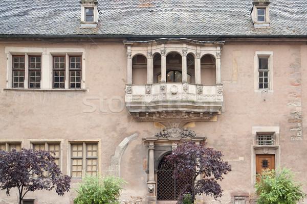 Histórico varanda casa janela cultura escultura Foto stock © prill