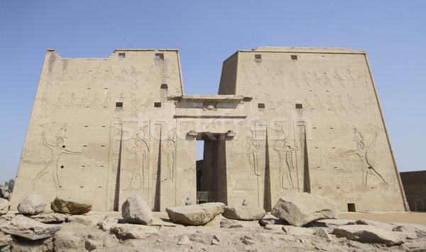 ancient Horus temple Stock photo © prill