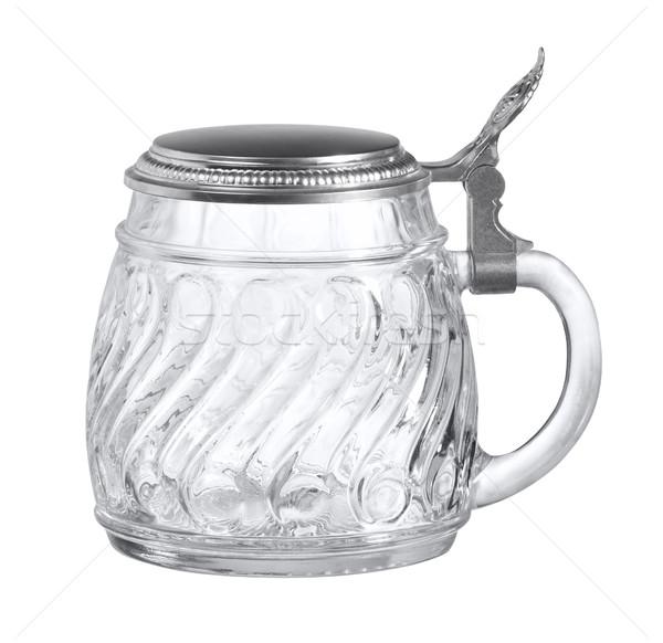 beer mug made of glass Stock photo © prill