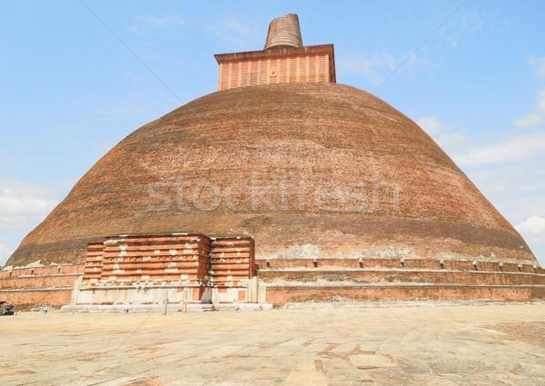 Sri Lanka építkezés kő tégla építészet vallás Stock fotó © prill