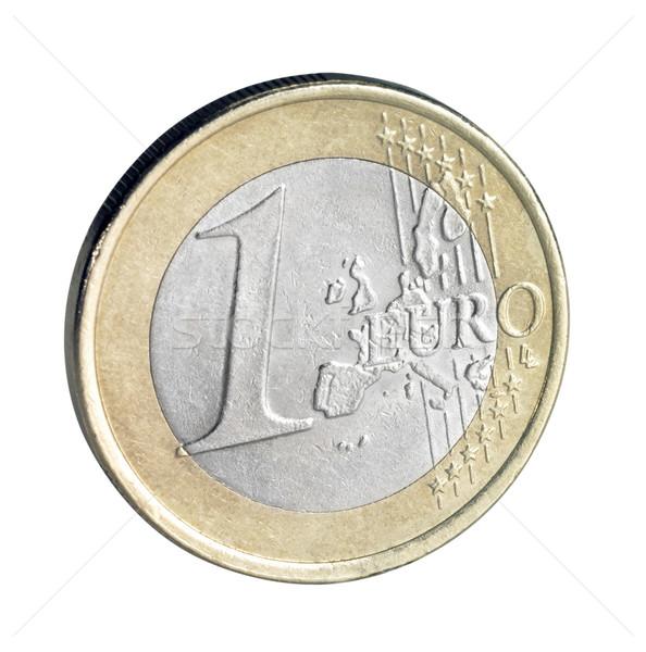 Euro munt geld metaal goud Stockfoto © prill