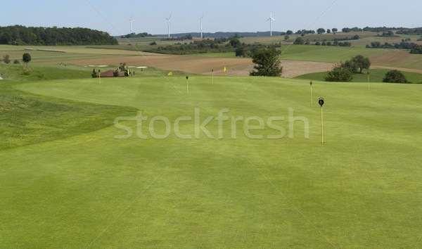 golf scenery at summer time Stock photo © prill