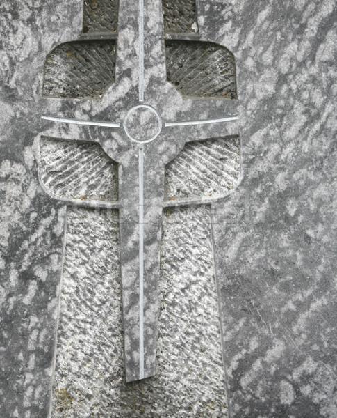 Lápide pormenor atravessar arte religião Foto stock © prill