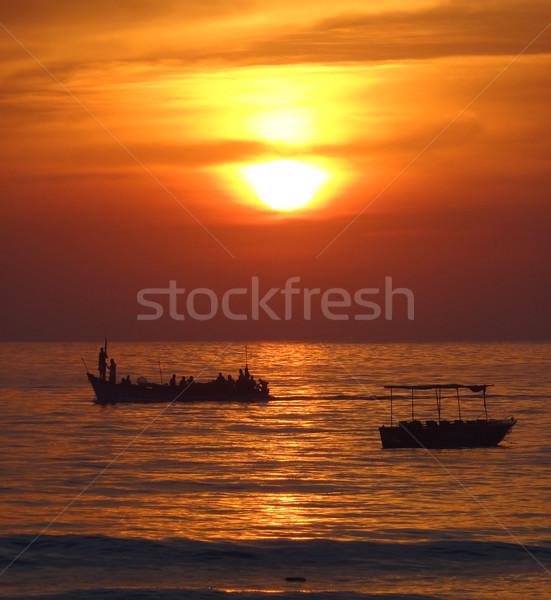 Sundown at Colva Stock photo © prill