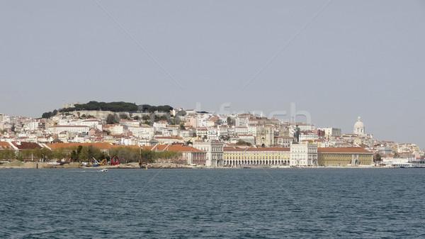 Lissabon Portugal stad huis gebouw zee Stockfoto © prill
