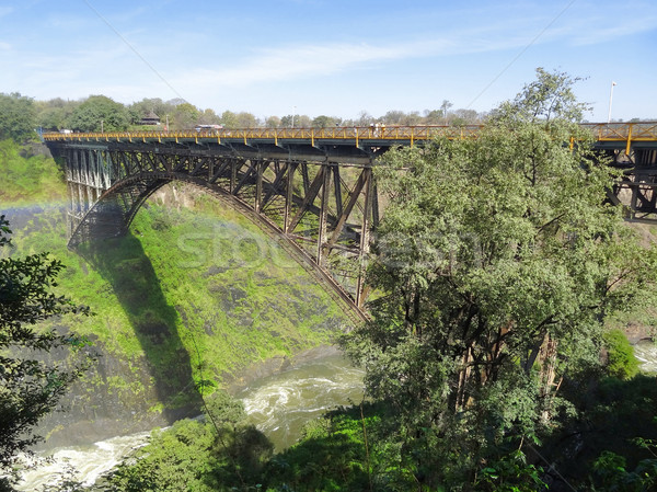ジンバブエ アフリカ 自然 山 橋 石 ストックフォト © prill