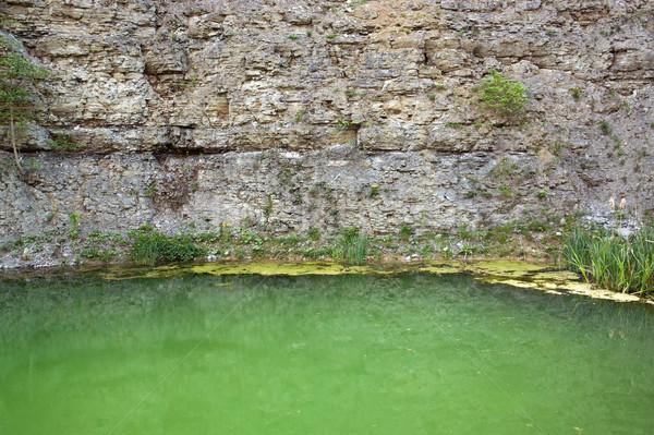 lake at a gravel quarry Stock photo © prill