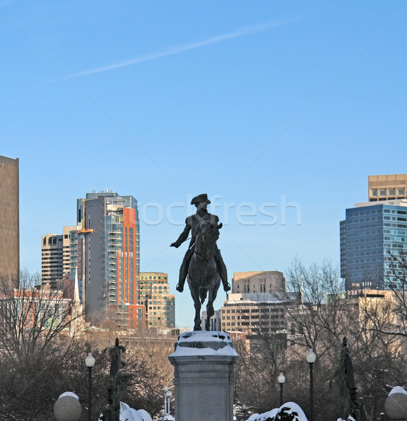 Washington statua Boston Massachusetts USA sereno Foto d'archivio © prill