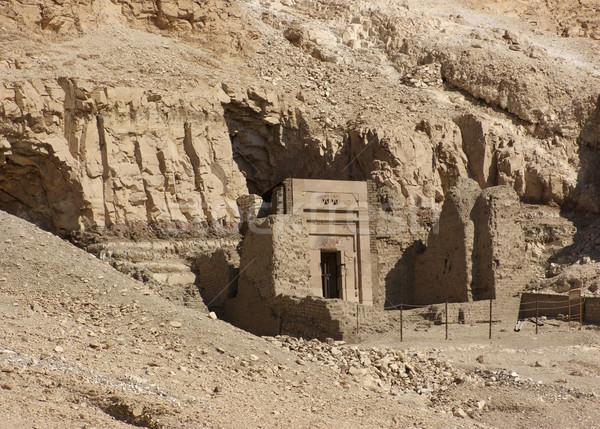 rock cut tomb near Mortuary Temple of Hatshepsut Stock photo © prill