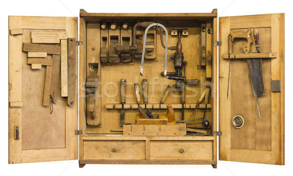 historic tool cabinet Stock photo © prill