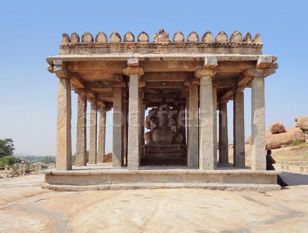 Kadalekalu Ganesha Temple at Vijayanagara Stock photo © prill