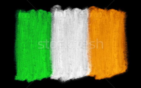 Irlanda bandera ilustración acuarela fondo arte Foto stock © prill