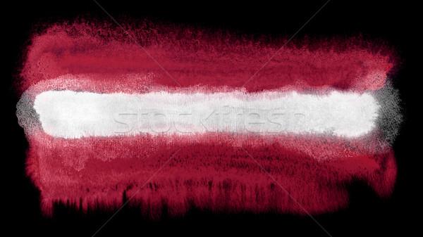 Letonya bayrak örnek suluboya arka plan sanat Stok fotoğraf © prill