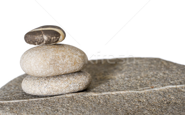 stacked stone pebble arrangement Stock photo © prill