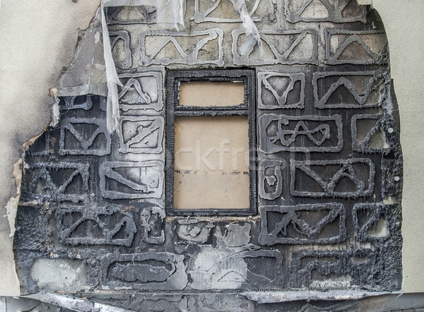 burnt house detail Stock photo © prill
