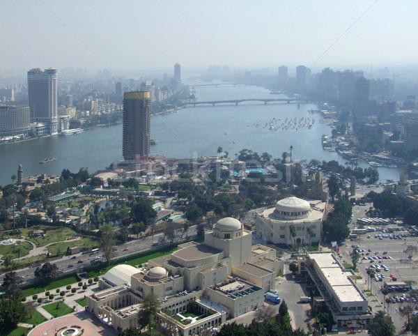 Cairo brumoso Egipto río Foto stock © prill