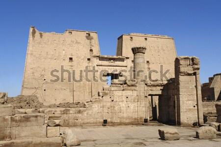 around Edfu Temple of Horus Stock photo © prill