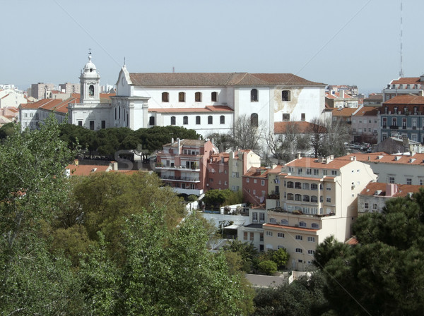 Lissabon stad Portugal huis stedelijke Stockfoto © prill