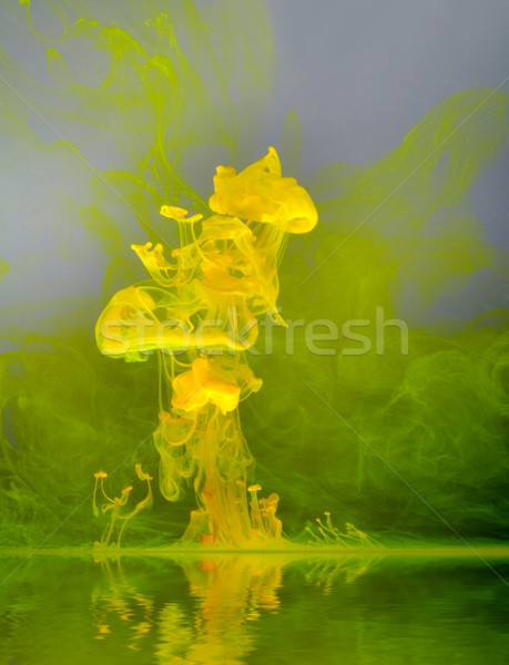 yellow color cloud Stock photo © prill