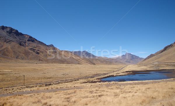 Meer landschap rond Peru gras Stockfoto © prill