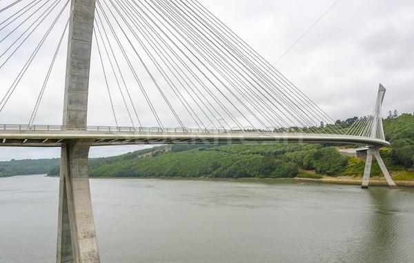 Terenez bridge in Brittany Stock photo © prill