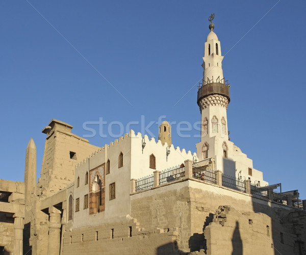 mosque at Luxor Temple in Egypt Stock photo © prill