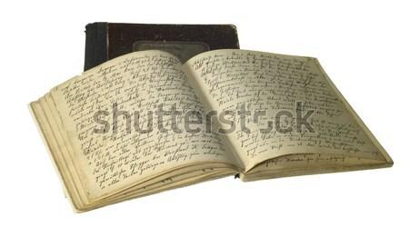 opened old handwritten book Stock photo © prill