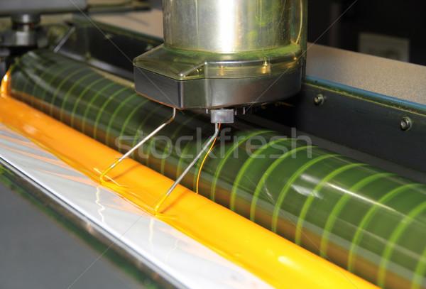 色 デッキ 詳細 印刷 マシン 塗料 ストックフォト © prill