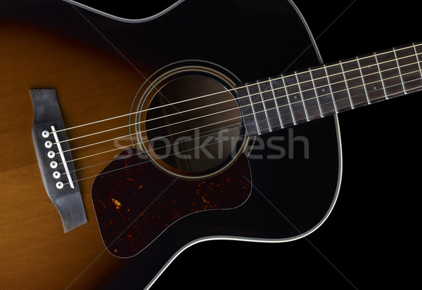 Acoustic Guitar detail Stock photo © prill