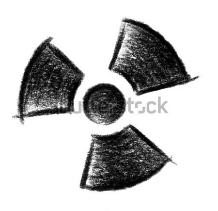 Radyoaktif ikon örnek simge boya imzalamak Stok fotoğraf © prill