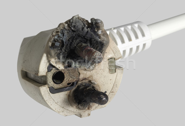 burnt power plug Stock photo © prill