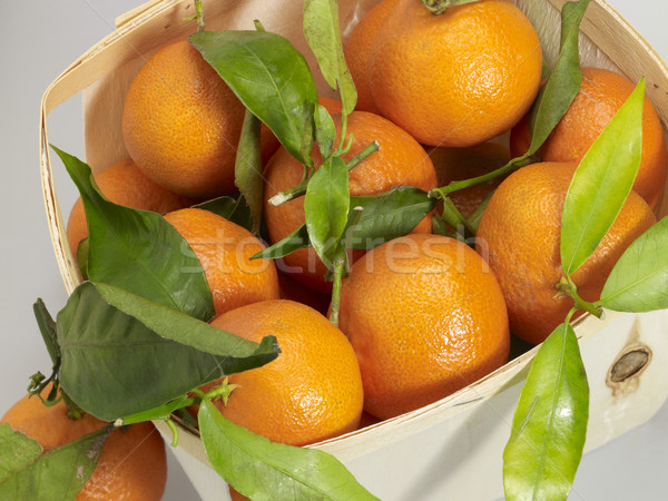 crate with orange fruits Stock photo © prill