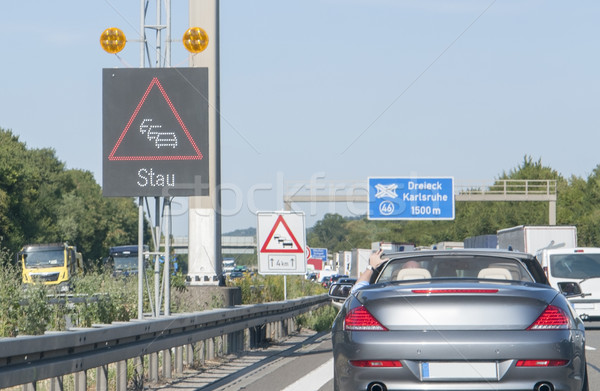 freeway with traffic jam Stock photo © prill